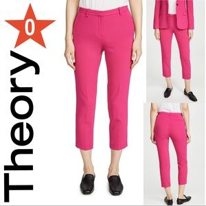 THEORY Tailored Trousers Magenta size 0 NWT